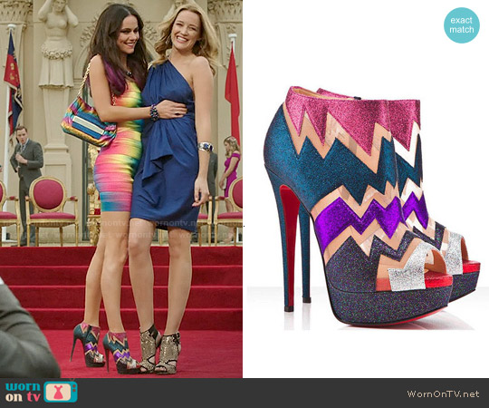 Christian Louboutin Ziggy Booties worn by Princess Eleanor on The Royals