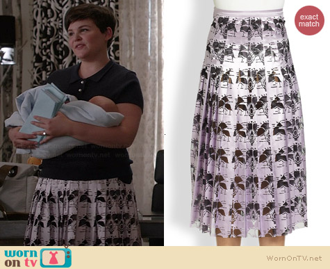Christopher Kane Pleated Carnation Skirt worn by Ginnifer Goodwin on OUAT