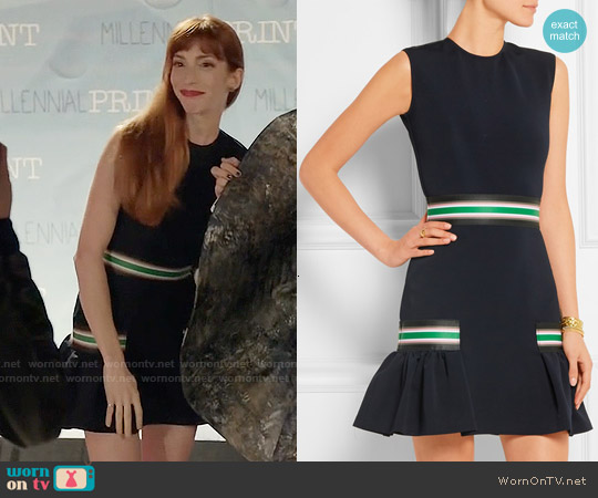 Christopher Kane Striped Stretch Jersey Dress worn by Molly Bernard on Younger