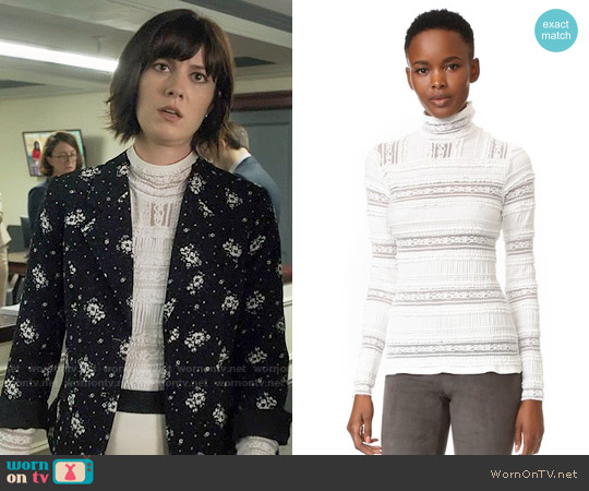 Cinq a Sept Antonia Top worn by Mary Elizabeth Winstead on BrainDead