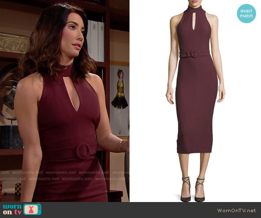 Cinq a Sept Juniper Dress worn by Jacqueline MacInnes Wood on The Bold & the Beautiful