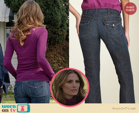 Citizens of Humanity Destiny Flap Pocket Jeans worn by Stana Katic on Castle