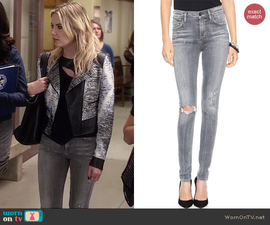 Citizens of Humanity Rocket Skinny Jeans in London Calling worn by Ashley Benson on PLL