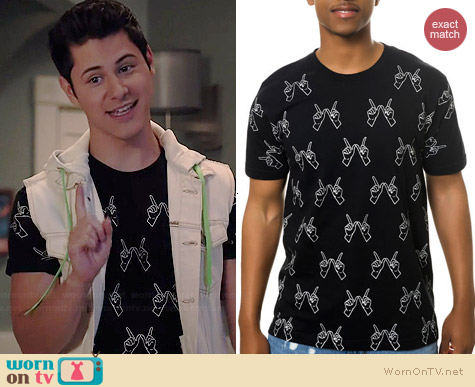 Clashist Glow in the Dark Whatever Tee worn by Michael Willett on Faking It