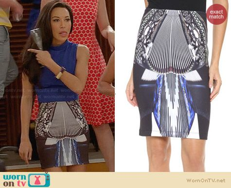 Clover Canyon Accordion Dance Skirt worn by Naya Rivera on Glee