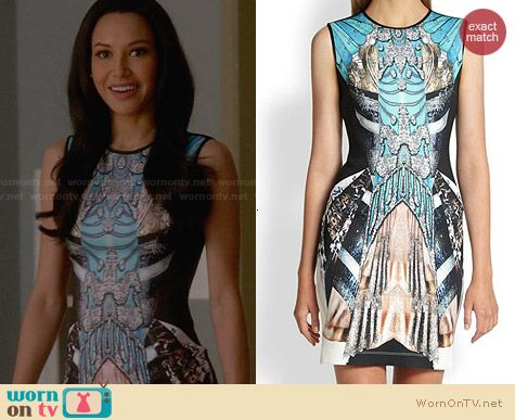 Clover Canyon All That Jazz Neoprene Dress worn by Naya Rivera on Glee