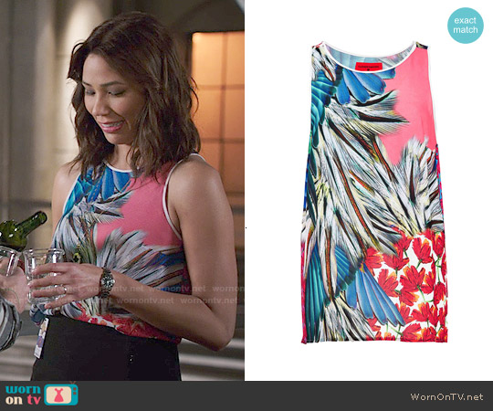 Clover Canyon Carnival Top worn by Michaela Conlin on Bones