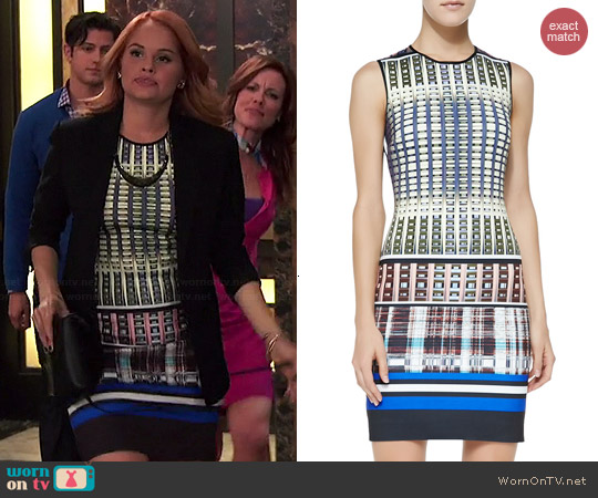 Clover Canyon Donegal Print Dress worn by Debby Ryan on Jessie