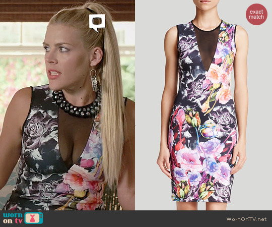 Clover Canyon Floral Sheath worn by Busy Phillips on Cougar Town