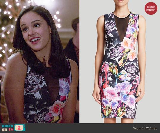 Clover Canyon Floral Sheath Dress worn by Melissa Fumero on Brooklyn Nine-Nine