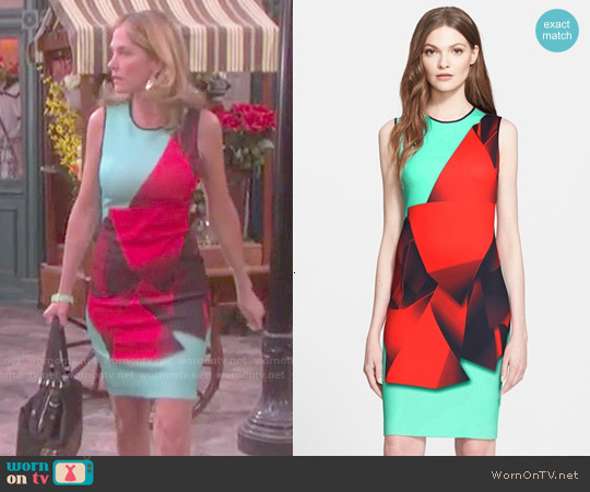 Clover Canyon Folded Floral Sheath Dress worn by Kassie DePaiva on Days of our Lives