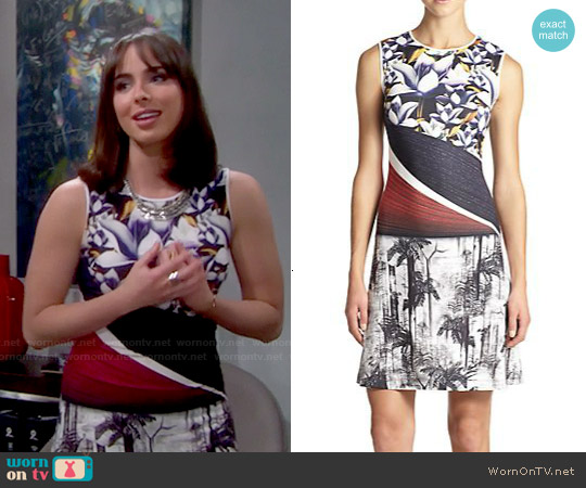 Clover Canyon Forbidden Fruit Floral Print Dress worn by Ashleigh Brewer on The Bold & the Beautiful
