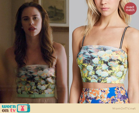 Clover Canyon Garden of Athena Crop Top worn by Christa Allen on Revenge