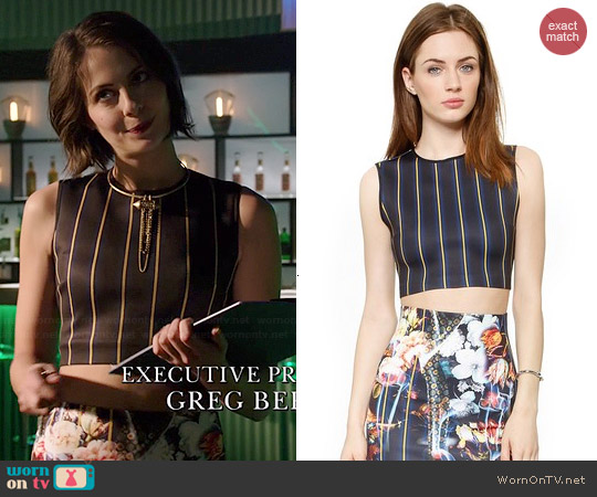 Clover Canyon George Bernard Shaw Crop Top worn by Willa Holland on Arrow