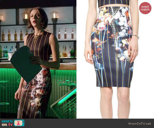 Clover Canyon George Bernard Shaw Pencil Skirt worn by Thea Queen on Arrow