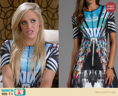 Clover Canyon Glacial City Neoprene Dress worn by Carly Chaikin on Suburgatory