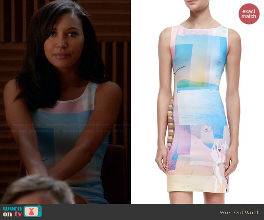 Clover Canyon Greek Dream Dress worn by Naya Rivera on Glee