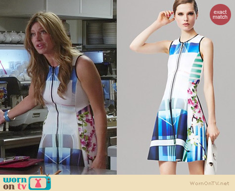 Clover Canyon Hollywood Bowl Dress worn by Jes Macallan on Mistresses