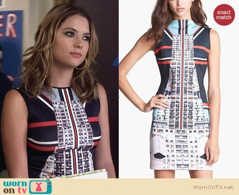 Clover Canyon Metropolis Dress worn by Ashley Benson on PLL