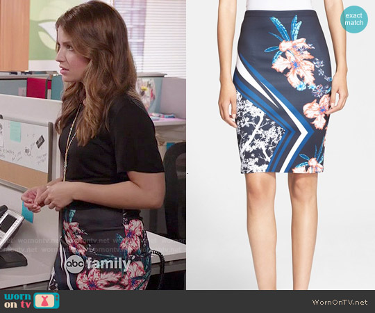 Clover Canyon Modern Romance Skirt worn by Paige Spara on Kevin from Work