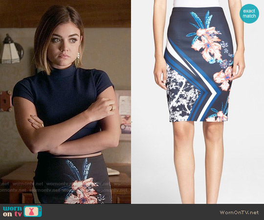 Clover Canyon Modern Romance Skirt worn by Lucy Hale on PLL