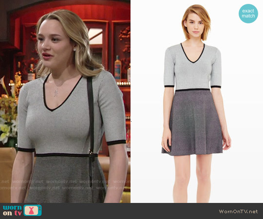 Club Monaco Murgatroyd Sweater Dress worn by Hunter King on The Young & the Restless