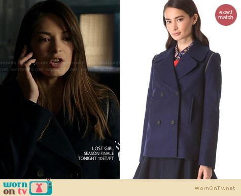 Club Monaco Akira Pea Coat worn by Kristen Kreuk on BATB