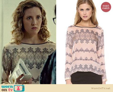 Club Monaco Alesia Shirt worn by Evelyn Brochu on Orphan Black