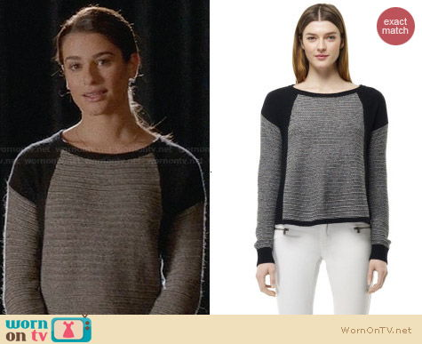 Club Monaco Alexandra Sweater worn by Lea Michele on Glee
