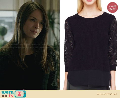 Club Monaco Asia Sweater worn by Kristen Kreuk on BATB