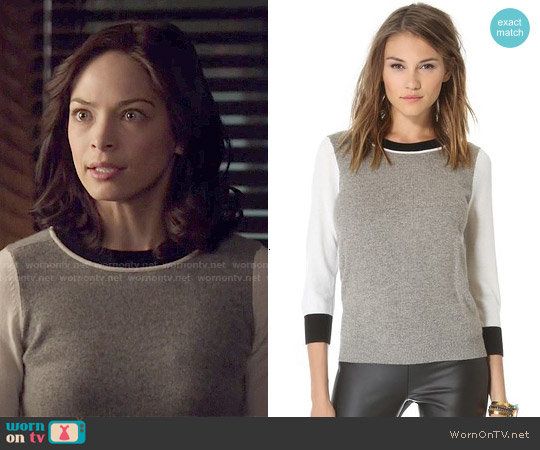 Club Monaco Audra Cashmere Sweater worn by Kristin Kreuk on Beauty & the Beast