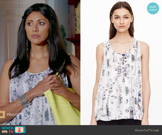 Club Monaco Eryn Print Tank worn by Reshma Shetty on Royal Pains
