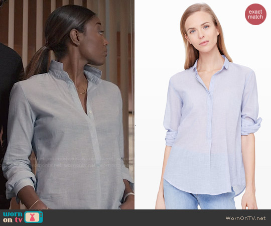 Club Monaco Hartford Carson Shirt worn by Patina Miller on Madam Secretary
