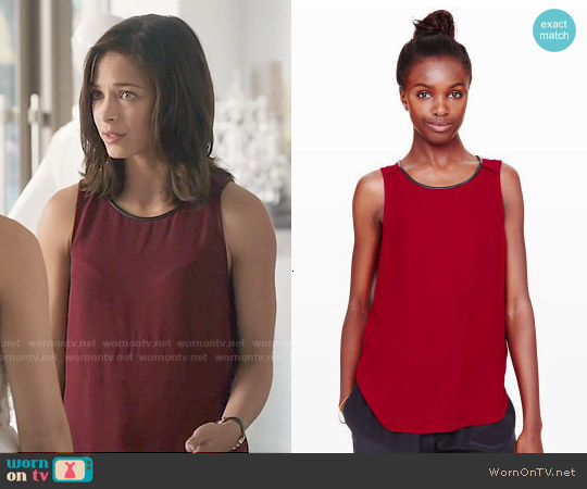 Club Monaco Isla Tank worn by Kristin Kreuk on Beauty & the Beast