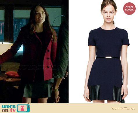 Club Monaco Janie Knit & Leather Dress worn by Kristin Kreuk on BATB