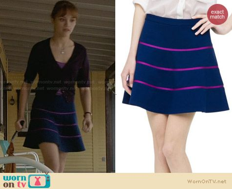 Club Monaco Kallen Skirt worn by Olivia Cooke on Bates Motel