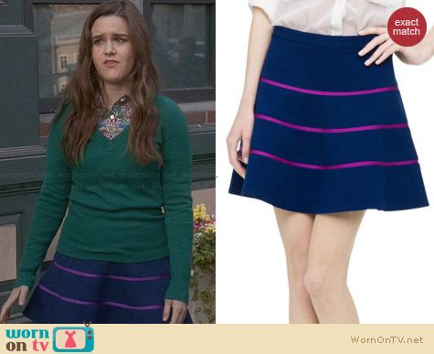 Club Monaco Kallen Skirt worn by Zoe Jarman on The Mindy Project