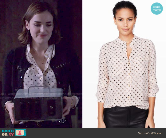 Club Monaco Monique Silk Print Shirt worn by Elizabeth Henstridge on Agents of SHIELD