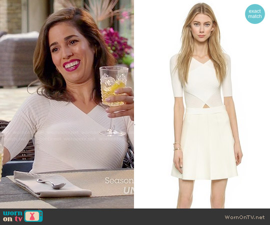 Club Monaco Parvana Sweater Dress worn by Ana Ortiz on Devious Maids