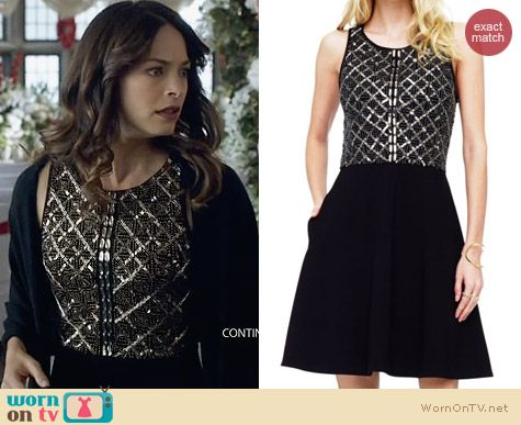 Club Monaco Rebecca Embellished Dress worn by Kristin Kreuk on BATB