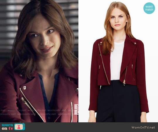 Club Monaco Rimona Jacket worn by Kristin Kreuk on Beauty & the Beast