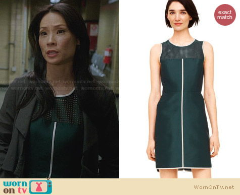 Club Monaco Serina Dress worn by Lucy Liu on Elementary