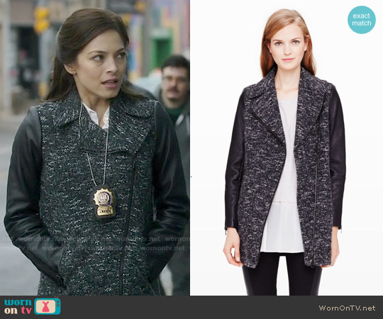 Club Monaco Taylor Coat worn by Kristin Kreuk on Beauty & the Beast