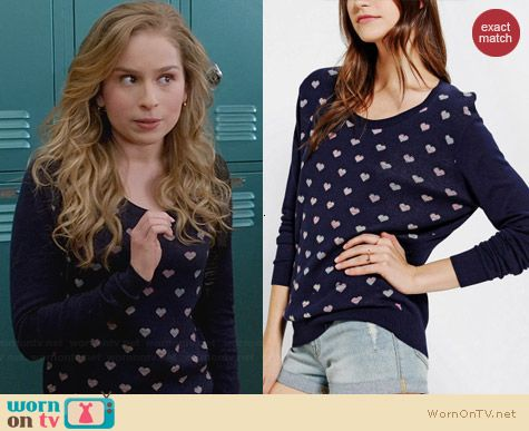 Co-Operative Suzy Pullover worn by Allie Grant on Suburgatory