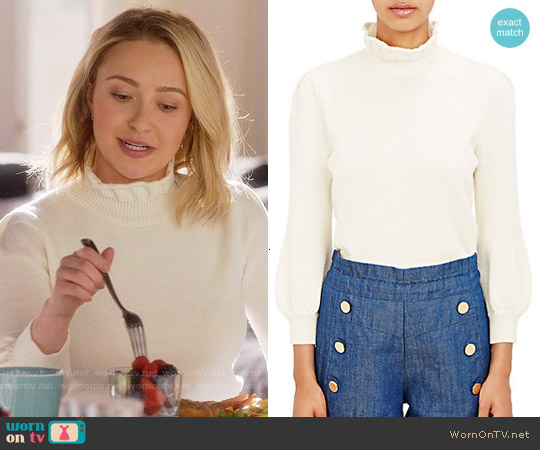 Co Ruffle Neck Sweater worn by Hayden Panettiere on Nashville