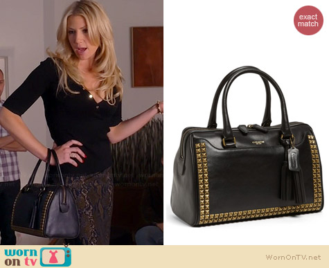 Coach Legacy Haley Satchel in Studded Leather worn by Ari Graynor on Bad Teacher