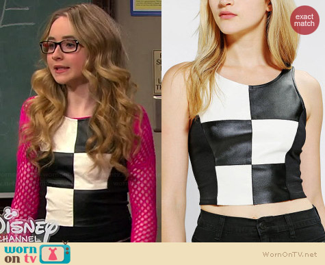 Coincidence & Chance Checkerboard Crop Top worn by Sabrina Carpenter on Girl Meets World