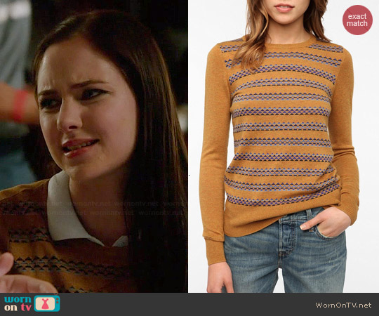 Coincidence & Chance Jane Printed Sweater worn by Haley Ramm on Chasing Life