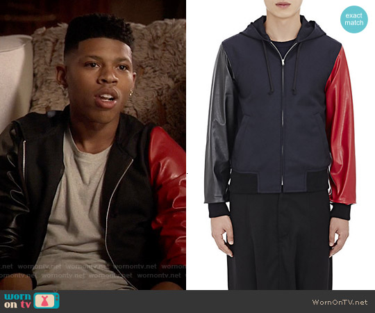 Comme des Garcon Gabardine Zip-Front Combo Hoodie worn by Bryshere Y. Gray on Empire