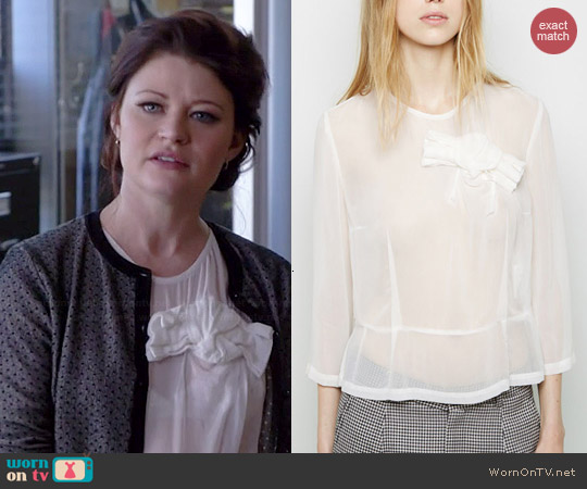 Comme des Garcons Bow Blouse worn by Emilie de Ravin on OUAT